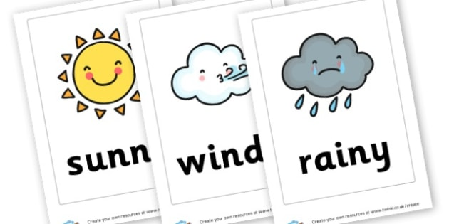 Weather Cards (Large) - Weather Display Primary Resources,Weather,Display,Posters,Banners