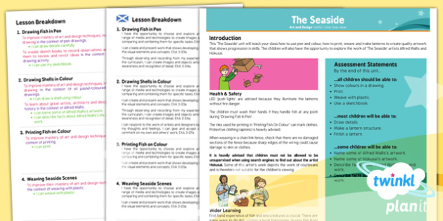 PlanIt - Art UKS2 - The Seaside Planning Overview CfE - planit, art, planning, overview, cfe