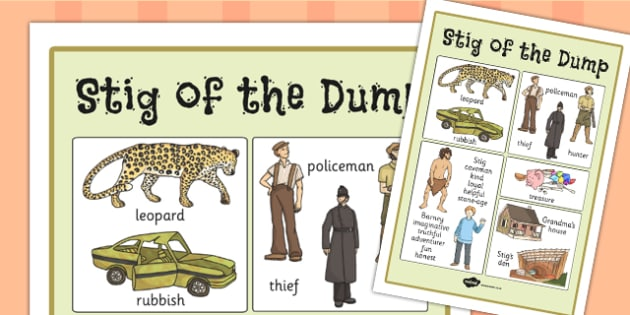 Stig of the Dump Vocabulary Poster - stig, vocabulary, posters
