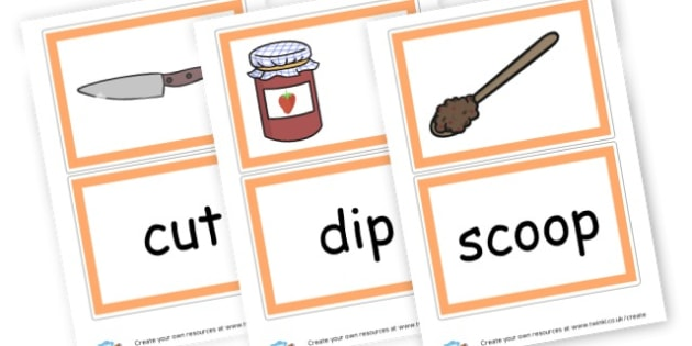 Jam on toast instructions - Food, Drink and Eating Display Primary Resources - Food & Drink P