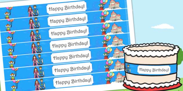 Fairytale Themed Birthday Party Cake Ribbon - birthdays, parties