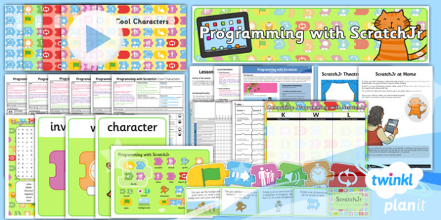 PlanIt - Computing Year 1 - Programming with ScratchJr Unit Pack - code, coding, programming, algorithms
