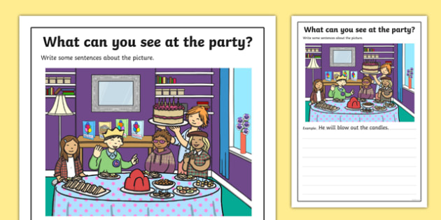 Birthday Party Scene Writing Stimulus Picture