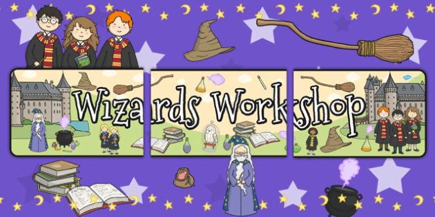Wizards Workshop Role Play Banner - wizards, banner, role play
