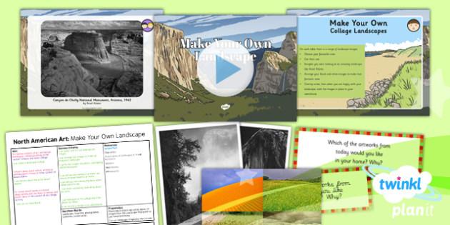 PlanIt - Art UKS2 - North American Art Lesson 2: Make Your Own Landscape Lesson Pack