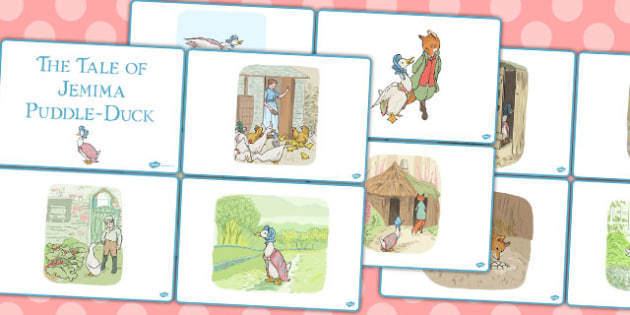 The Tale of Jemima Puddle Duck Story Sequencing Cards - jemima puddle-duck