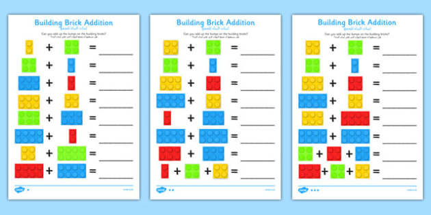 Building Brick Addition Worksheet Arabic Translation - arabic, building brick, addition