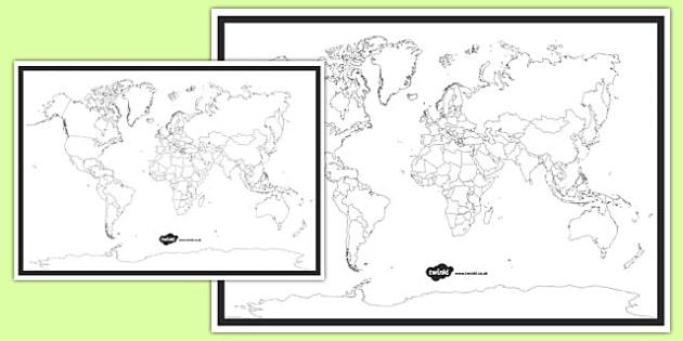 Blank World Map - blank world map, world map, activity, world