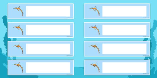 Leafy Sea Dragon Themed Resource Labels - leafy sea dragon, sea creature, resource labels, labels, display