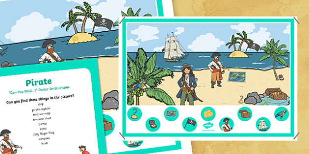 Pirates Can you Find...? Poster and Prompt Card Pack