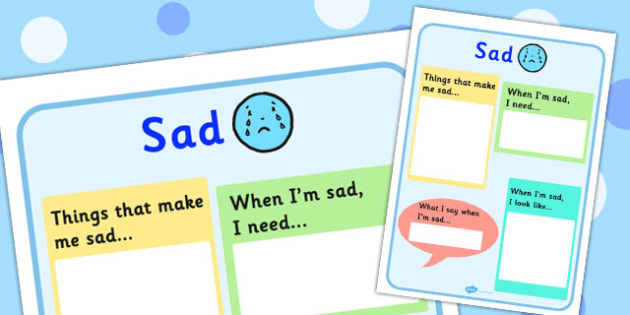 Sad Chart - feelings, emotions, SEN, class management, charts