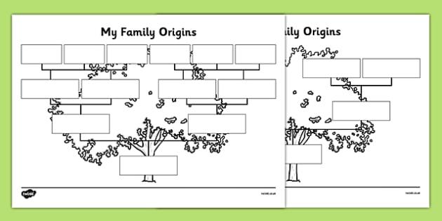 My Family Origins - Harmony Day, F-2 HASS, History, family tree, origins