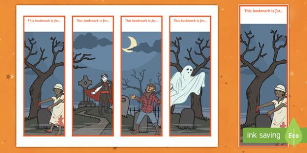 Halloween Themed Bookmarks