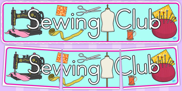 Sewing Club Display Banner (Australia) - banners, displays, sew