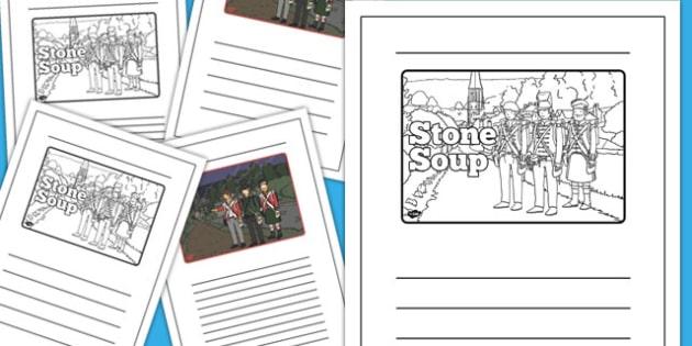 Stone Soup Story Writing Frames - stone soup, story, writing