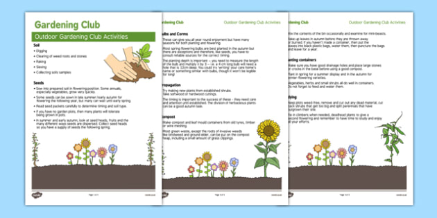 Elderly Care Gardening Club Outdoor Activity Ideas - Elderly, Reminiscence, Care Homes, Gardening Club