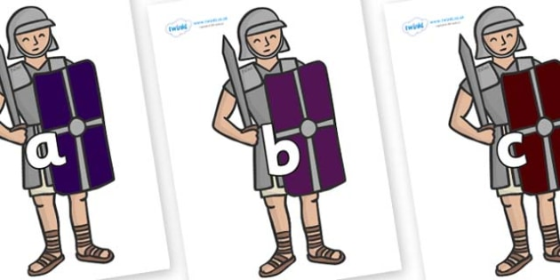 Phase 2 Phonemes on Roman Soldiers - Phonemes, phoneme, Phase 2, Phase two, Foundation, Literacy, Letters and Sounds, DfES, display