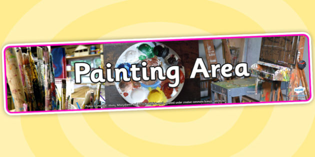 Painting Area Photo Display Banner - painting area, painting, art, photo display banner, display banner, photo banner, display photos, classroom display