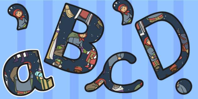 Babushka Themed Display Lettering - babushka, display lettering