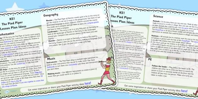The Pied Piper Lesson Plan Ideas KS1 - pied piper, lesson, KS1