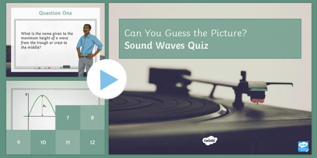 Sound Waves PowerPoint Quiz PowerPoint - PowerPoint Quiz, Sound, Waves, Sound Waves, Hertz, Amplitude, Frequency