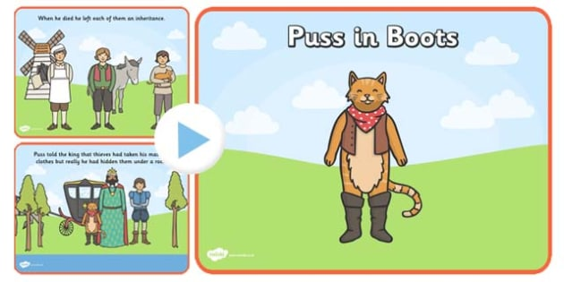 Puss in Boots Story PowerPoint - puss in boots, puss in boots powerpoint, puss in boots story, puss in boots story sequencing, puss in boots presentation