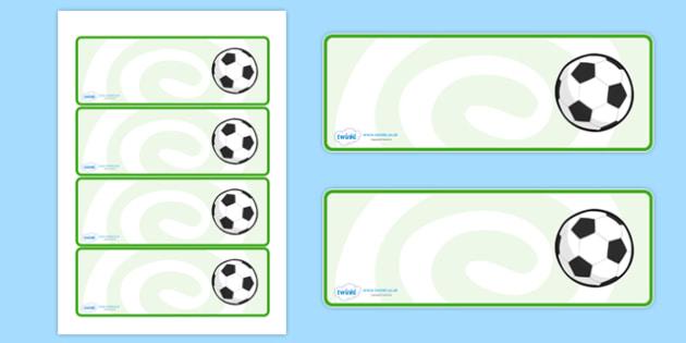 Editable Footballs Drawer, Peg, Name Labels - Editable Label Templates, football, soccer, Resource Labels, Name Labels, Editable Labels, Drawer Labels, Coat Peg Labels, Peg Label, KS1 Labels, Foundation Labels, Foundation Stage Labels, Teaching Label