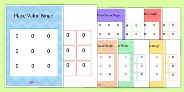 Editable Hundreds, Tens and Units Place Value Bingo Game - bingo, game