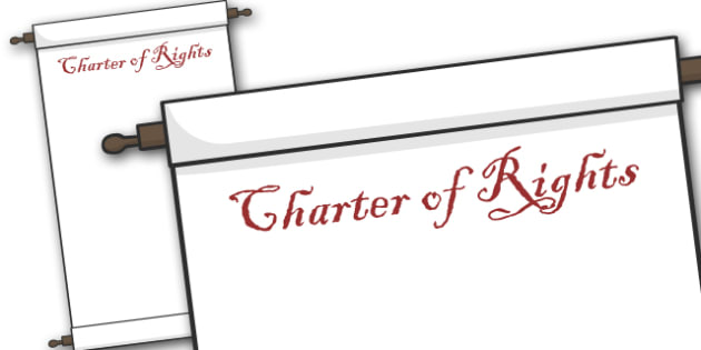 Charter of Rights Template - Charter of Rights, rights, charter, template, blank, creative, activity, rules, America, natives, constitution, freedom, right