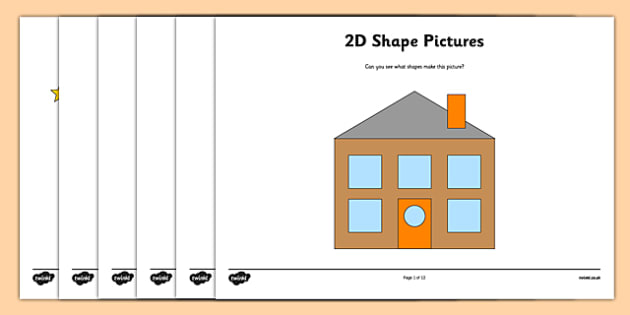 2D Shape Activity Pictures - 2D shapes, In the environment, Shape poster, Shape flashcards, Shape recognition, Shapes in the environment