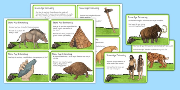 Stone Age Estimation Challenge Cards - stone age, estimation, challenge cards, challenge