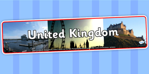United Kingdom Photo Display Banner - United Kingdom, UK, Display Banner, United Kingdom Banner, UK Display Banner, Themed Banner, Photo Banner