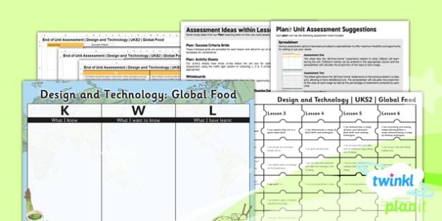 PlanIt - DT UKS2 - Global Food Unit Assessment Pack - planit, assessment, pack
