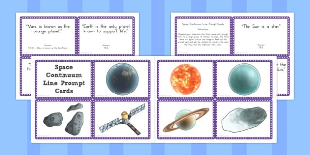 Space Continuum Line Prompt Cards - australia, space, continuum, line