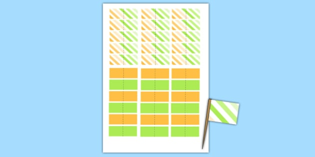 Baby Shower Toothpick Flags - baby shower, baby, shower, newborn, pregnancy, new parents, toothpick flags