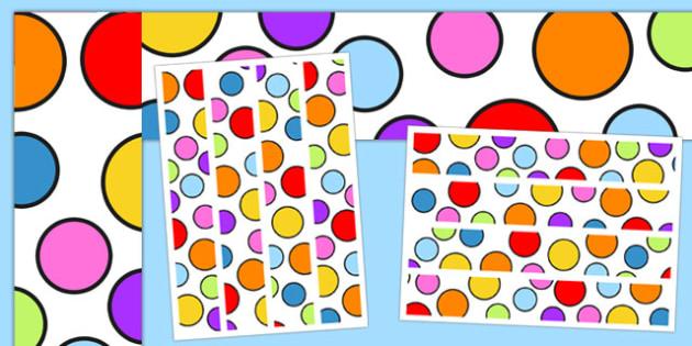 Multicoloured Polka Dot Display Borders - display, borders, polka dot