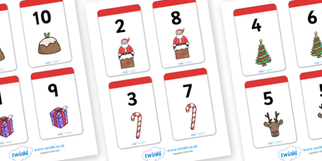 Christmas Number Bonds to 10 Matching Cards Activity - christmas