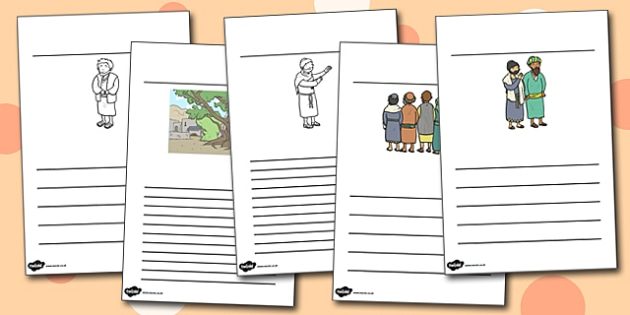 Zacchaeus the Tax Collector Bible Story Writing Frames