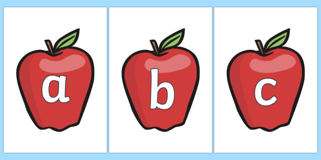 Phase 2 Phonemes on Red Apples - Phonemes, phoneme, Phase 2, Phase two, Foundation, Literacy, Letters and Sounds, DfES, display