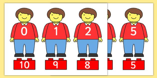 Building Brick Man Number Bonds Matching Activity to 10 - building brick, number bonds, number, bonds, brick, man, matching, activity