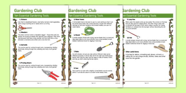 Elderly Care Gardening Club Tools - Elderly, Reminiscence, Care Homes, Gardening Club