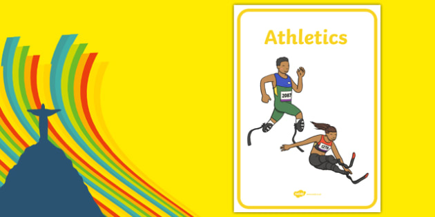 The Paralympic Events Athletics Display Posters - Athletics, athlete, running, Paralympics, sports, wheelchair, visually impaired, display, banner, poster, sign, 2012, London, Olympics, events, medal, compete, Olympic Games