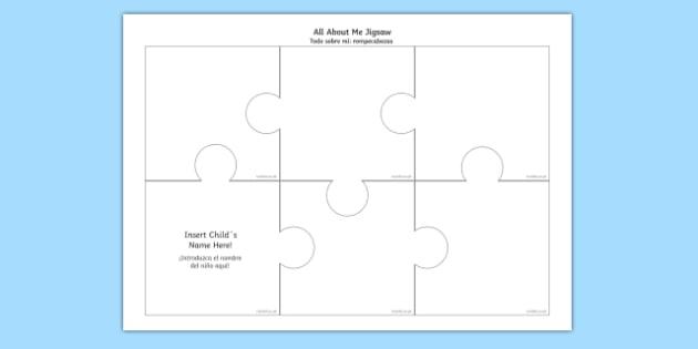 All About Me Jigsaw Spanish Translation--translation