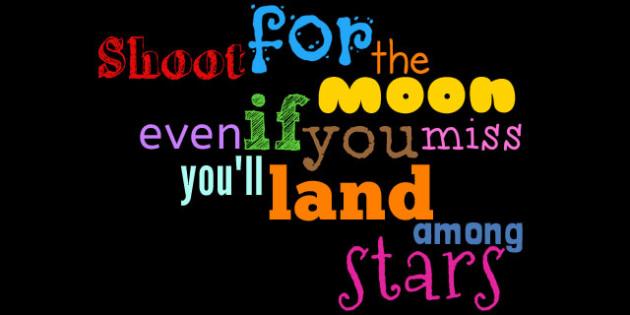 Shoot for the Moon Display Words - australia, moon, display