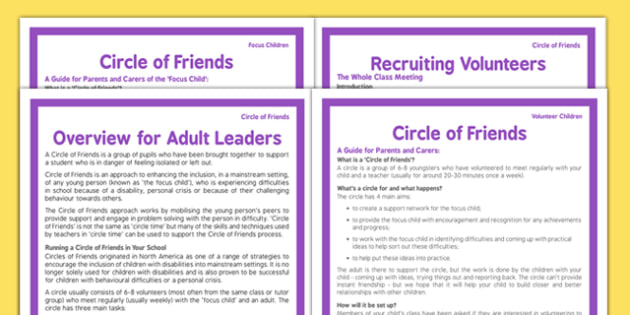 Circle of Friends Pack - circle of friends, pack, resources, volunteer, children, adults