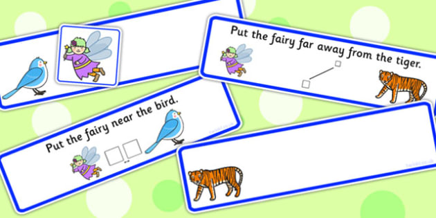 Put The Fairy Near Or Far Picture Strips - preposition, distance