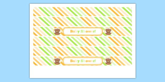 Baby Shower Cake Ribbon - baby shower, baby, shower, newborn, pregnancy, new parents, cake ribbon