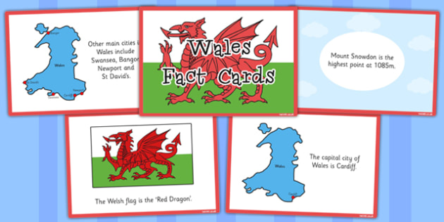 Our Country Wales Fact Cards - our country, wales, facts, cards