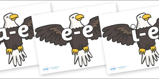 Modifying E Letters on Eagles - Modifying E, letters, modify, Phase 5, Phase five, alternative spellings for phonemes, DfES letters and Sounds