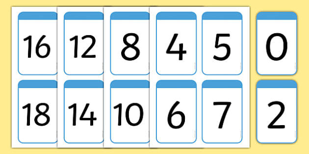 Number Digit Cards 0-100 - Numeracy, digit card, math, number recognition, counting, numeracy, numbers, numbers to 100, flashcards